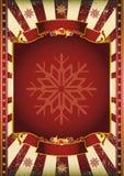 Vieille affiche de Noël Photos stock