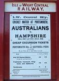 Vieille affiche du sud de publicité de rail Photographie stock libre de droits