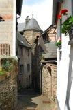 Vieille allée dans Beilstein Image libre de droits