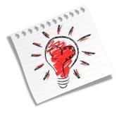 Vieille ampoule électrique Image libre de droits