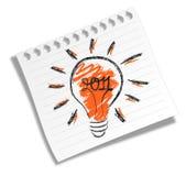 Vieille ampoule électrique Image stock