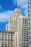 Vieille architecture classique Detroit du centre photographie stock