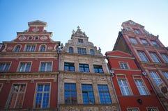 Vieille architecture de Gdanks de ville Photos stock