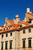 Vieille architecture de ville de Dubrovnik Photo stock