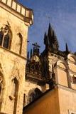 Vieille architecture de ville de Prague Images libres de droits