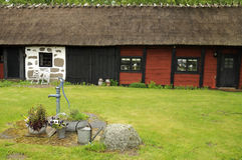 Vieille architecture suédoise caractéristique Photo stock