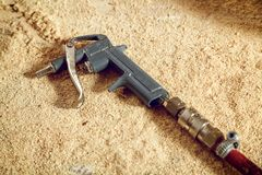 vieille arme à feu en métal images stock