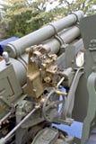 Vieille arme d'artillerie de la deuxième guerre mondiale Photo libre de droits