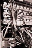 Vieille armoire de réseau. Sépia de B&W Images libres de droits