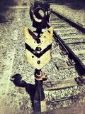 Vieille assemblée de rail Photos libres de droits