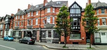 Vieille avenue de bâtiments de Chester images libres de droits