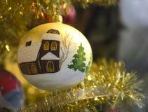 Vieille babiole de Noël Image stock
