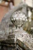 Vieille balustrade en pierre d'escalier de balustres images stock
