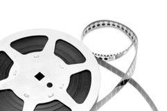 Vieille bande de film d'isolement sur le fond blanc Photo stock