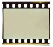 Vieille bande de film de 35 millimètres d'isolement Photo stock