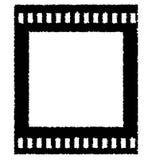 Vieille bande de film négatif Images libres de droits