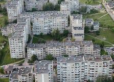 Vieille banlieue à Vilnius Images libres de droits