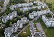 Vieille banlieue à Vilnius Image libre de droits