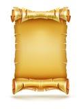 Vieille bannière de papier de paquet de manuscrit d'antiquité de rouleau Photographie stock
