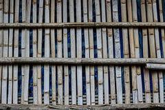 Vieille barrière en bambou Image libre de droits