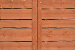 Vieille barrière en bois rouge Images libres de droits