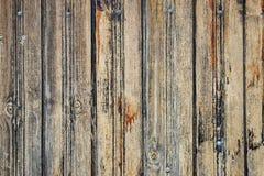Vieille barrière en bois superficielle par les agents images libres de droits