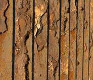 Vieille barrière en métal Image stock