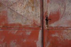 Vieille barrière en métal Photo libre de droits