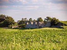 Vieille base abandonnée de grange Images stock