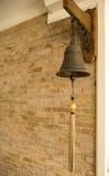 Vieille Bell en laiton Images libres de droits