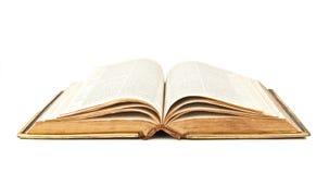 Vieille bible ouverte Photographie stock libre de droits