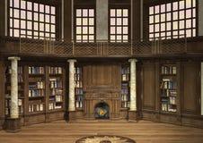 Vieille bibliothèque Photographie stock libre de droits