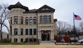 Vieille bibliothèque publique Photos stock