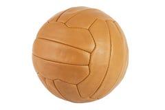 Vieille bille de football Image libre de droits