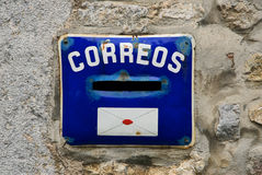 Vieille boîte aux lettres espagnole photo libre de droits