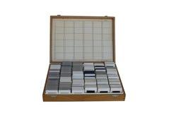Vieille boîte de glissière de photo Image libre de droits