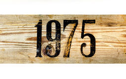 Vieille boîte 1975 en bois photographie stock libre de droits