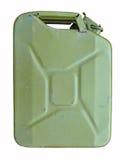 Vieille boîte métallique verte de carburant Photos stock