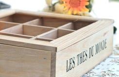 Vieille boîte vide à thé Images stock