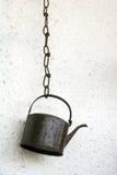 Vieille bouilloire de fer Image stock