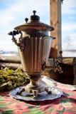 Vieille bouilloire russe Photo libre de droits