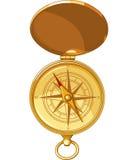 Vieille boussole de regard avec Windrose Image libre de droits