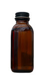 Vieille bouteille brune de médecine Photo libre de droits