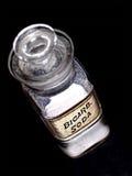 Vieille bouteille de bicarbonate de soude de Bicarb de pharmacie Photographie stock libre de droits