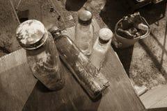 vieille bouteille de whiskey photo libre de droits