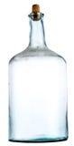 Vieille bouteille vide avec la poussière Images stock
