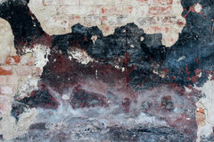 Vieille brique avec le fond de plâtre Images stock