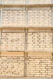 Vieille brique blanche Photo libre de droits