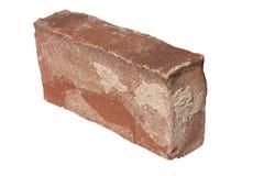 Vieille brique rouge d'isolement Photos stock