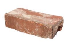 Vieille brique rouge d'isolement Images stock
